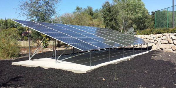 Ground mount solar installer