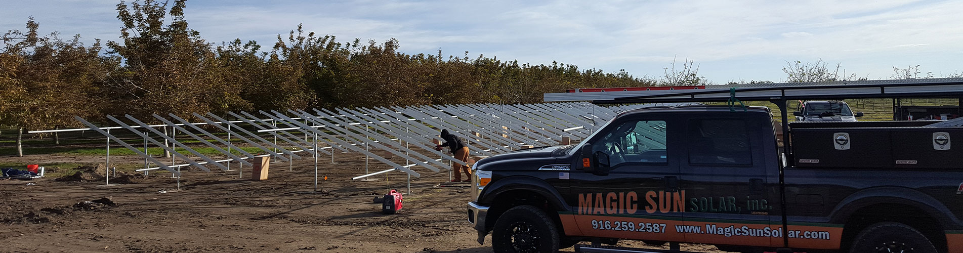 commercial solar installation and power